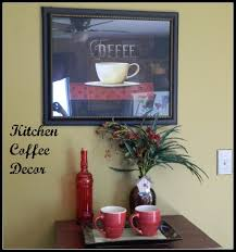 kitchen simple words coffee kitchen decor in wood frame next to