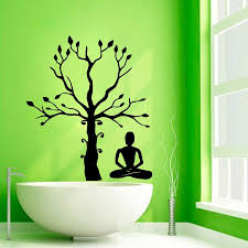 popular meditation room buy cheap meditation room lots from china quality home wall stickers yoga studio meditation tree mural room decals wall decor cw 42