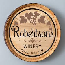 buy personalized rustic wine barrel cask home decor sign online