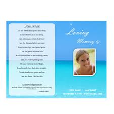 Downloadable Funeral Program Templates Waterscape 5 Funeral Pamphlets