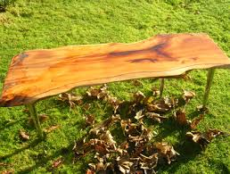 Yew Side Table Rustic Dining Room Tables