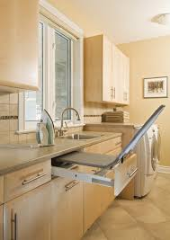 contemporary laundry room folding table by using laundry room