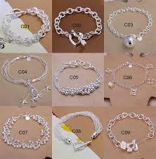silver bracelet styles images Fashion 10 styles mixed bracelet 925 silver pretty ladies silver jpg