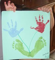 that gives me an idea hand footprint art