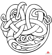 outline celtic snake tattoo design free clipart design download