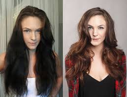 lighten you dyed black hair naturally color correction how to removing years of black box color career