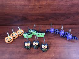set of 12 adorably spooky halloween shower curtain hooks ebay
