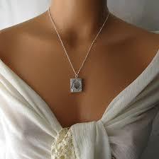 Monogram Locket Necklace Personalized Locket Necklace Long Necklace Initial Monogram