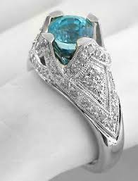 blue zircon rings images Antique blue zircon ring in 14k white gold from myjewelrysource jpg