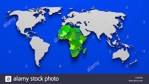 Political Map Of Africa by 3d Illustration Political Map Of Africa Continent Stock Photo