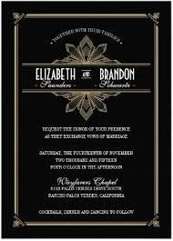 gatsby invitations stylish glam gold black deco invitations gatsby themed