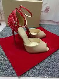 2018 2017louboutin heels cl christian heel height 100cm red beige