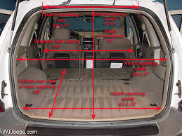 jeep grand wj cargo area dimensions