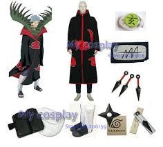Naruto Halloween Costume Aliexpress Buy Apparel Naruto Akatsuki Zetsu Cosplay Costume
