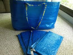 bins bags recycling ikea frakta shopping bag large blue length