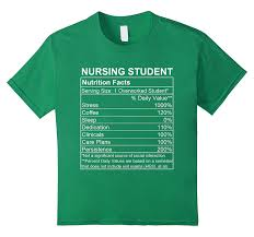 amazon com funny nursing student nutrition facts nurse gift t