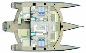 Catamaran Floor Plans by Caribbean Multihulls Neel Trimarans 65