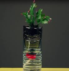 Vase Made From Plastic Bottle Instead Of Throwing Those Plastic Bottles Away Hold Them On An