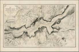 Yosemite Valley Map Map Of The Yosemite Valley From Surveys Made By Order Of The