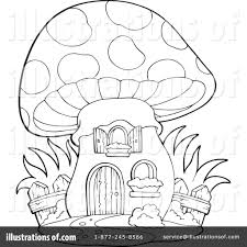 mushroom clipart to color collection