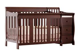 White Crib And Changing Table Combo Crib Changing Table Dresser Combo Magnificent Design Brown