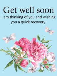 get better cards blue flower get well card birthday greeting cards by davia