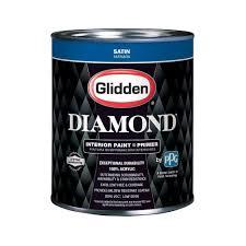 glidden diamond 1 qt pure white satin interior paint and primer