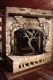 made fireplace screens by earth eagle forge llc custommade