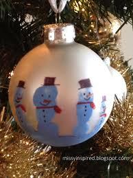 inspired handprint ornaments snowman family