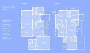 a floorplan floor plans of al furjan villas and townhouses