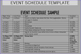 8 event schedule template weeklyplanner website