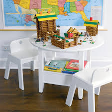 Children S Table With Storage by Round Table And Chairs For Kids 12990