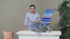 Rio Sand Chair Rio 5 Position Beach Chair Deep Sea Blue Stripe Youtube