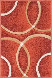 Area Rugs With Circles with Orren Ellis Bernard Chester Circles Modern Geometric Orange Area