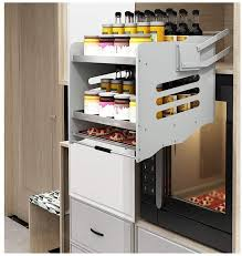 kitchen cabinet pull out storage racks dyyd pull shelf high cabinet lift pull
