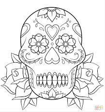 coloring pages sugar skull outline sugar skull pumpkin pattern
