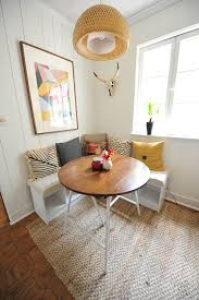 White Kitchen Table With Bench by Kitchen Nook Lucy Williams Interior Design Blog Before And After