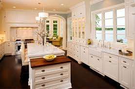 inspiring white cabinet and simple kitchen acksplash with wooden