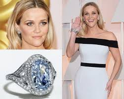 reese witherspoon engagement ring platinum jewelry the carpet at the 87th annual academy