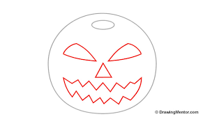 how to draw a pumpkin step by step tutorial