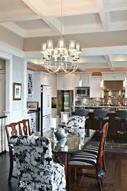 open layout contemporary traditional dining room and kitchen