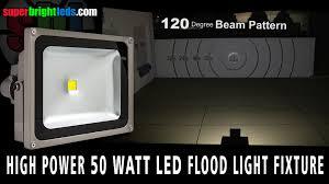 50 watt led flood light 50 watt led flood light fixture youtube