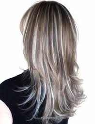 platinum blonde and dark brown highlights 40 shades of grey silver and white highlights for eternal youth