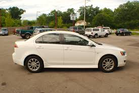 mitsubishi cars white 2011 mitsubishi lancer white spider drive sedan sale