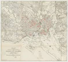 Map Dc Map Of Juvenile Delinquents Dc Map From 1935 Showing Homes Of