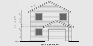 narrow house plans with garage narrow lot house plans house plans with rear garage 9984