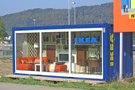 shipping container ikea furniture showroom shipping crate