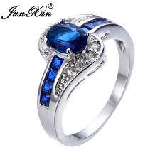 unique stone rings images Buy junxin unique jewelry blue oval zircon stone jpg