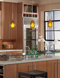 wonderful kitchen ideas with brass and glass mini pendant lights