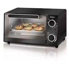Toaster Oven With Toaster Slots Mainstays 4 Slice Toaster Oven Black Walmart Com